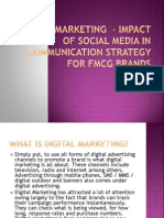 Digital Marketing - Impact of Social Media In