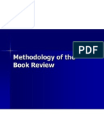 Methodology of the Book Review
