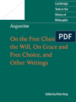 Augustine on the Free Choice of Will