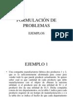 FORMULACIÓN DE PROBLEMAS1