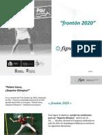 Frontón 2020