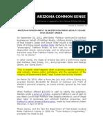ARIZONA CLARIFIES RATHBUN CEASE AND DESIST ORDER