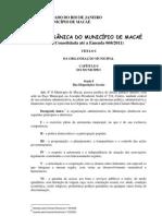 Lei Orgânica de Macaé 2011
