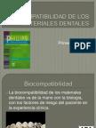 Biocompatibilidad de Los Materiales Dentales1