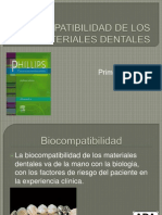 Biocompatibilidad de Los Materiales Dentales1