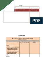 Formatos de los productos (Transformacion de la práctica docente.)