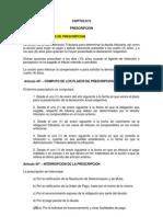 Codigo Tributario Capitulo IV Prescripciones