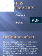 Business Mathmatics 1st Chapter