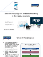 Telecom Due Diligence and Benchmarks in Developing Countries