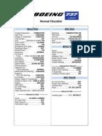 Normal Checklist 737-700