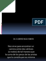 Matematicas Discretas Camino mas corto y a la Ancho