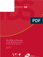 Rosser the Political Economy of the Resourse Curse 2006