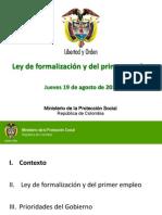 LEY DE FORMALIZACIÓN (Contexto)