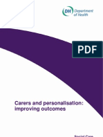 Carers and Personalisation_improving Outcomes