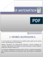 Index Teoria Matematica en La Admon