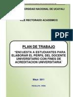 Plan de Trabajo de Encuesta de Estudiante -Perfil Docente1