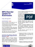 Disorder Update for Businesses