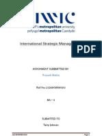 International Strategic Management 2 Priyank