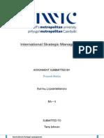 International Strategic Management Priyank