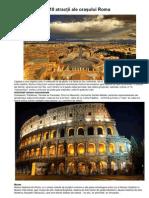 10 atracţii ale oraşului Roma