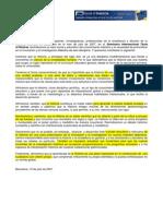 Manifiesto Seminario Internacional Didactica Historia 2007