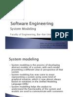 הנדסת תוכנה- הרצאה 5 | System Modeling