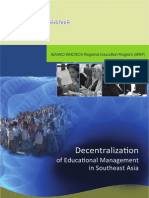 Decentralization of Educational Management in Southeast Asia