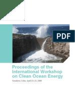Proceedings of the International Workshop on Clean Ocean Energy, Cuba, 4-2008