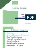 מערכות הפעלה- הרצאה 7 יחידה א | Real Memory