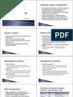 הנדסת תוכנה- הרצאה 10 |  Project Managment
