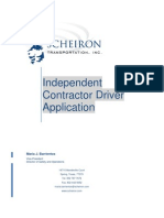 Independent Contractor Application PDF