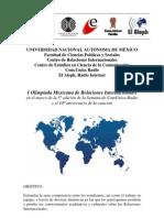 Convocatoria de la I Olimpiada Mexicana de Relaciones Internacionales