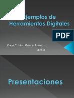 Ejemplos de Herramientas Digitales