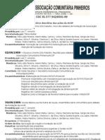 Histórico descritivo das ações da ACOP 2012 (2)
