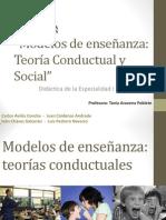 Modelos de enseñanza Teoría Conductual y Social