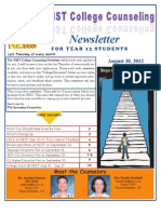 NIST College Counseling Newsletter for Year 12 Students - August 2012