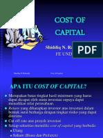 Cost of Capital Shiddiq