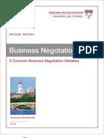 10 Business Negotiation Skills 5 Mist