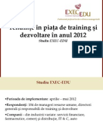 Studiu Necesitati Training