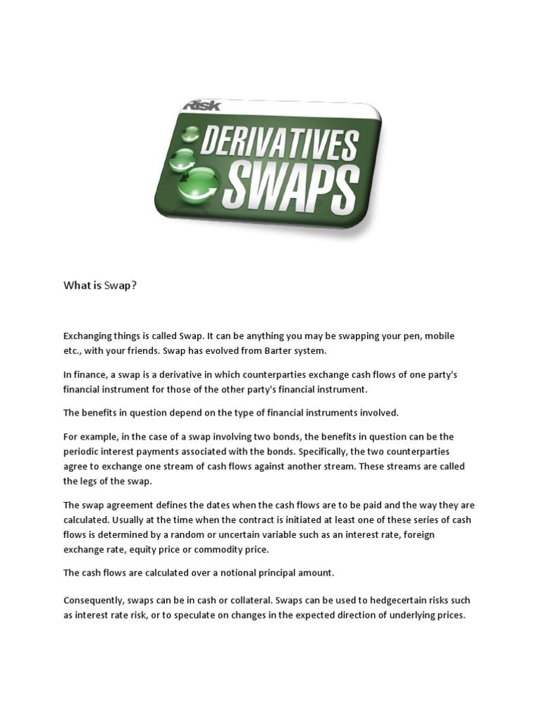 Swaps Final Swap Finance Derivative Finance
