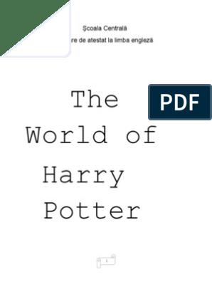 Atestat Hary Potter final liceu | Harry Potter | J  K  Rowling