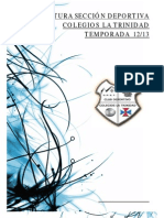 Estructura Sección Deportiva Colegios La Trinidad 2012-2013