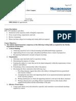 HCC ENC 1101 Syllabus Fall 2012