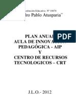 PLAN ANUAL DEL AULA DE INNOVACIÓN PEDAGÓGICA