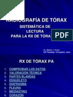 RADIOGRAFIA DE TÓRAX. SISTEMÁTICA DE LECTURA DE LA RX DE TÓRAX PA