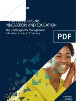 Entrepreneurship, Innovation and Education