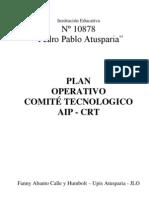 Plan Operativo Comite Tecnologico Aip