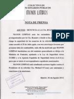 Nota Prensa Ryanair