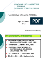 Plan General de Manejo Forestal 2012