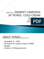 Advetisement Campaign of Ponds Cold Cream